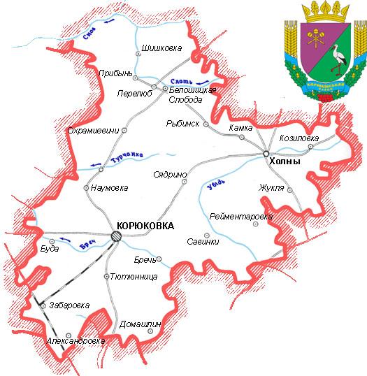 карта дорог Корюковского района