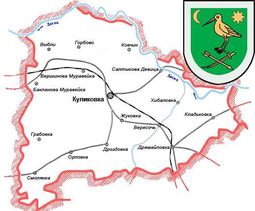 карта-схема Куликовский район