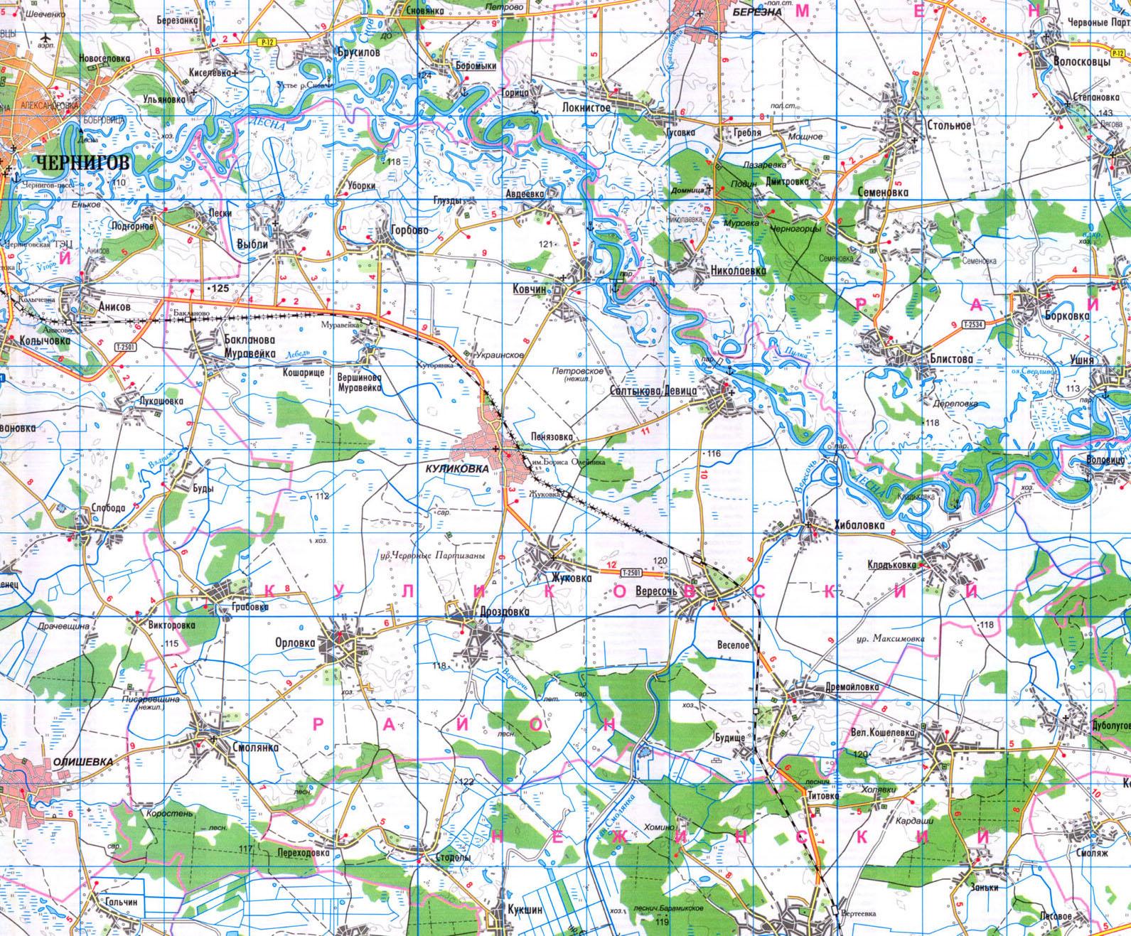 Подробная карта Куликовского района