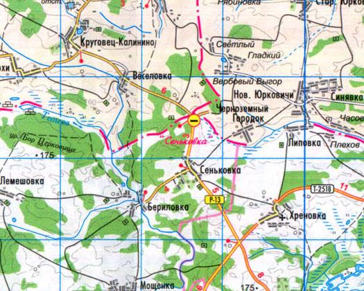 карта пункта пропуска в Сеньковке на границе