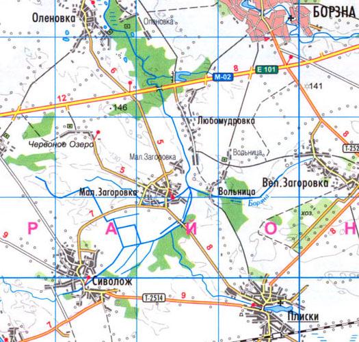 карта села Малая Загаровка