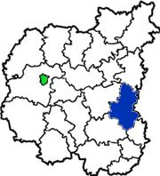 Бахмачский район на карте Черниговской области