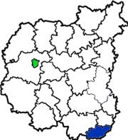 Варвинский район на карте Черниговской области