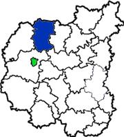 Городнянский район на карте Черниговской области