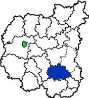 Ичнянский район на схеме Черниговской области