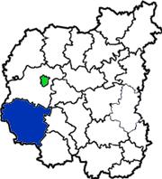 Козелецкий район на схеме области