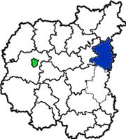 Коропский район на схеме Черниговской области