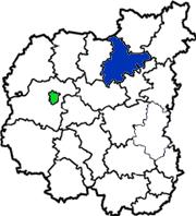 Корюковский район на схеме Черниговской области