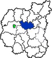 Менский район на схеме области