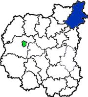 Новгород-северский район на схеме области