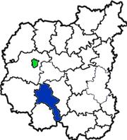 Носовский район на схеме Черниговской области