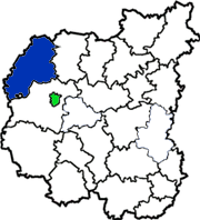 Репкинский район на карте области