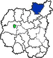 Семеновский район на карте области