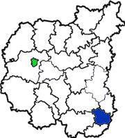 Сребнянский район на схеме Черниговской области