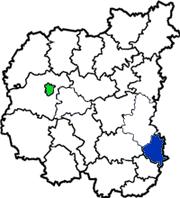 Талалаевский район на схеме Черниговской области