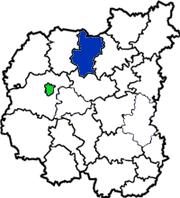 Щорский район на схеме Черниговской области