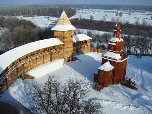 заснеженый исторический форт
