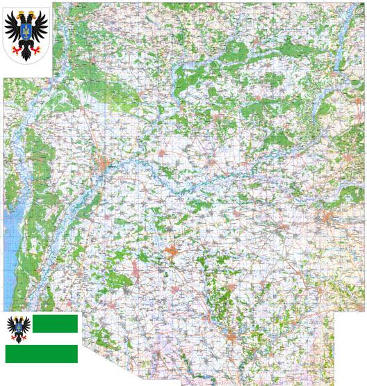 Подробная карта Черниговской области