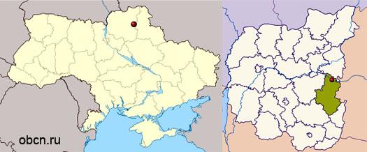 Батурин на карте Украины