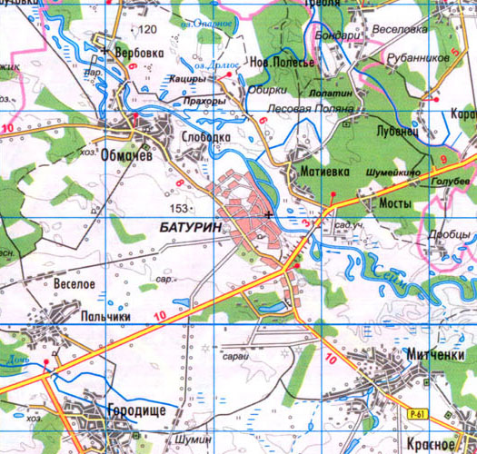 карта Батурина в Бахмачском районе