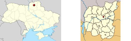 мена на карте Украины в Черниговской области
