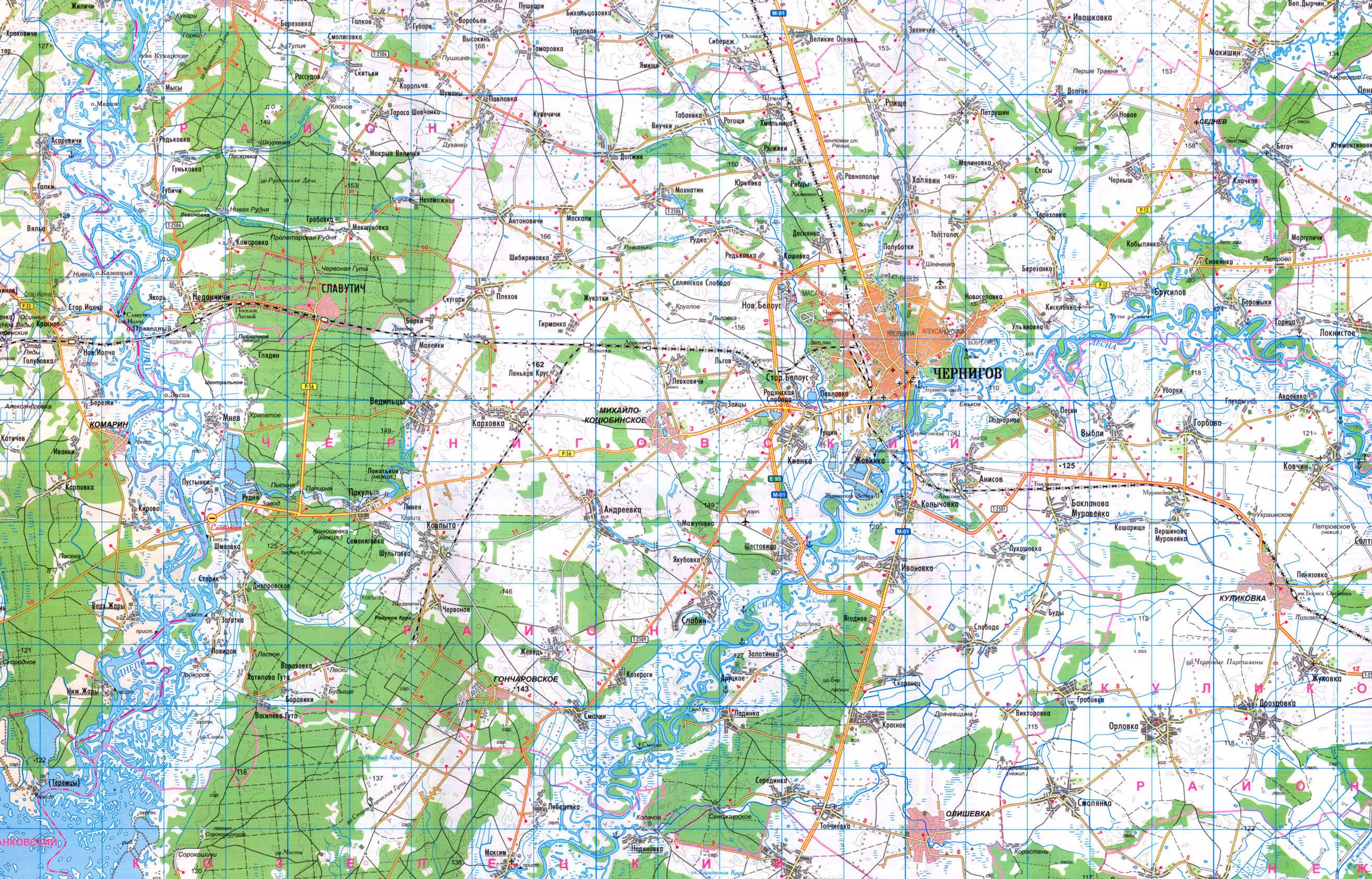 Черниговский район, карта