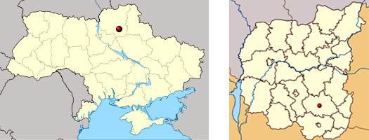 Ичня на карте Украины