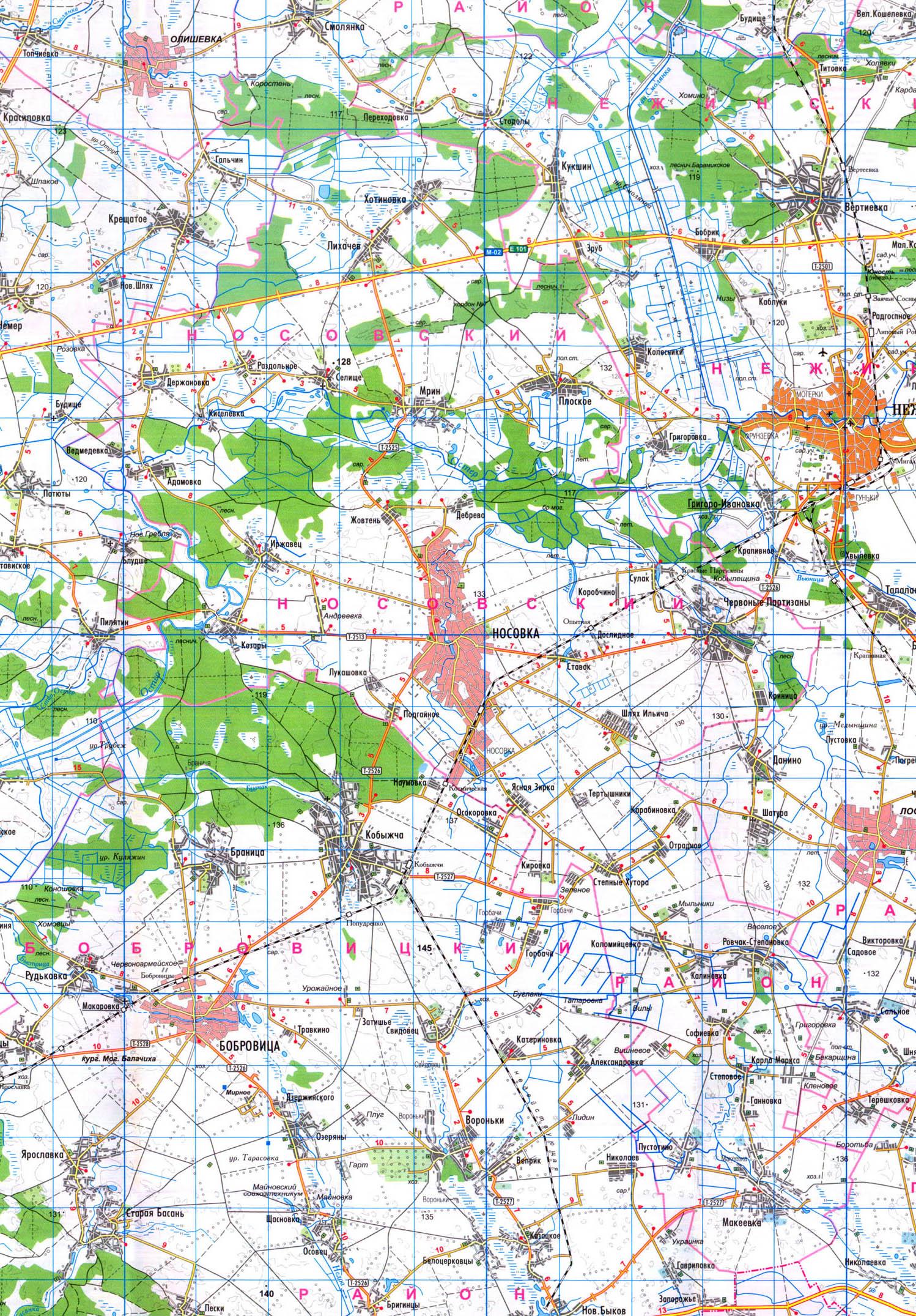 Носовский район и карта