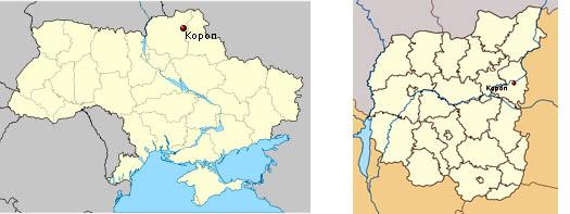 пгт Короп на карте Украины