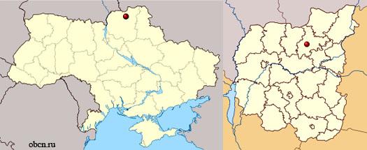 Корюковка на карте Украины