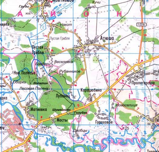 карта села Лубенец