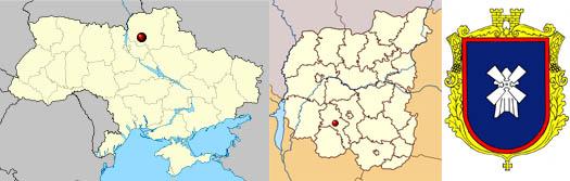 Носовка на карте Украины