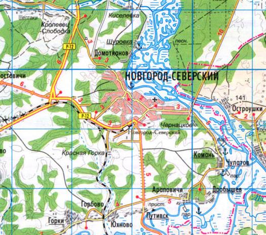 Карта г. Новгород-Северский
