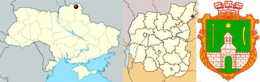 Новгород-Северский на карте Украины