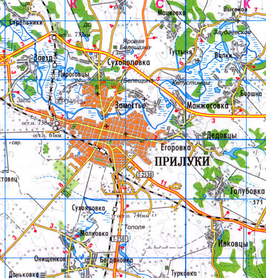 Дома а есть где-нибудь план застройки с ориентацией север-юг, запад-восток?