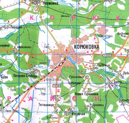 карта Корюковки