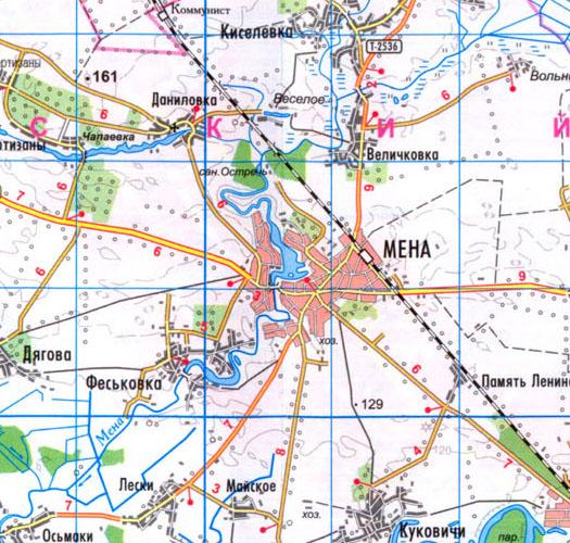 карта города Мена
