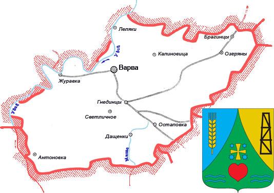 карта схема Варвинского района