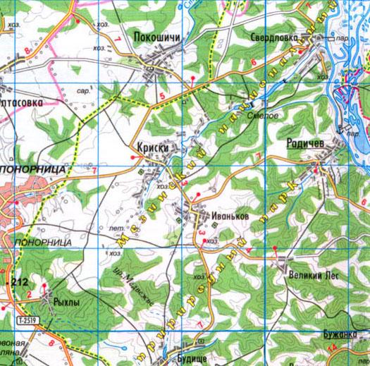 карта села Иваньков в Коропском районе