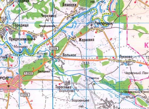 карта села Жерновка