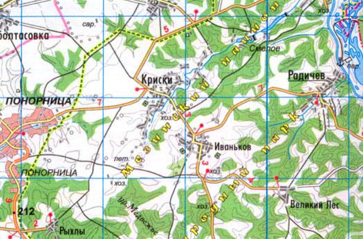 карта села Криски