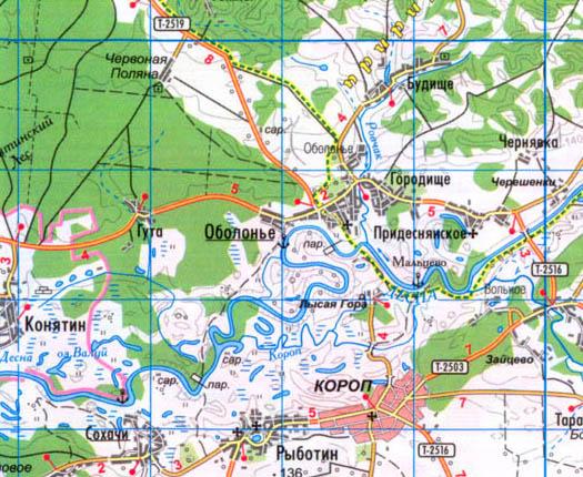 карта Села Оболонье