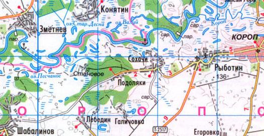 карта села Подоляки