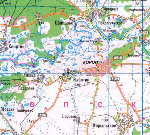 карта села Рыботин