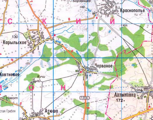 карта Червоное село в Коропском районе