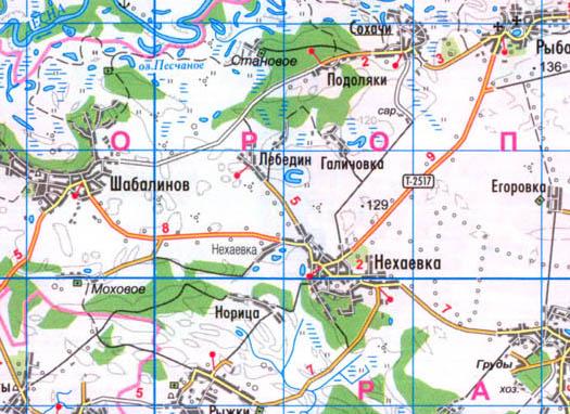 карта села Лебедин