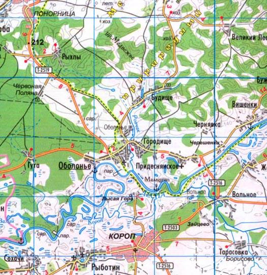 карта села Будище