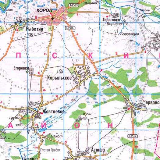 карта села Карильское