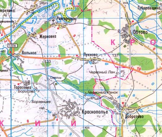 карта села Лукново, Коропский район