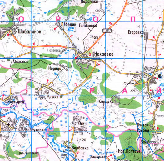 карта села Нехаевка